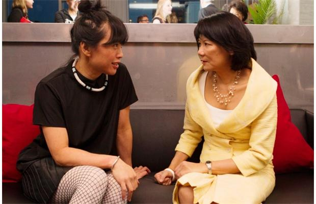 Sook-Yin Lee with Olivia Chow